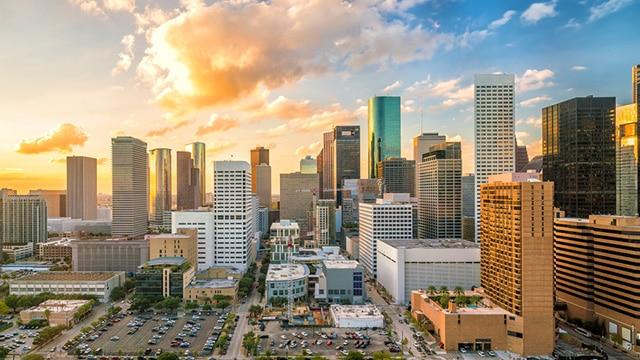 Houston Skyline Private jet charter Houston
