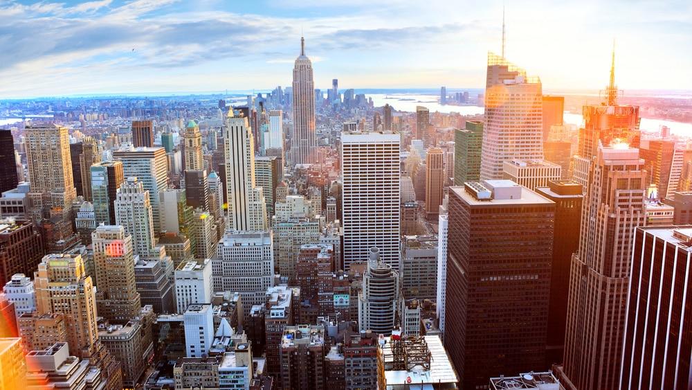Beautiful New York City Skyline Private jet NYC