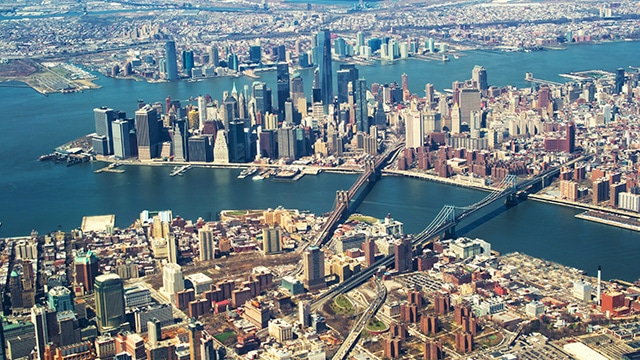 New York Skyline in a Private Jet Charter