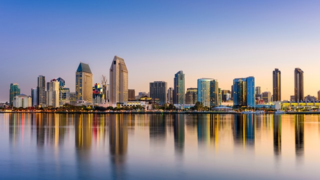 San Diego Bay Image Private jet charter San Diego